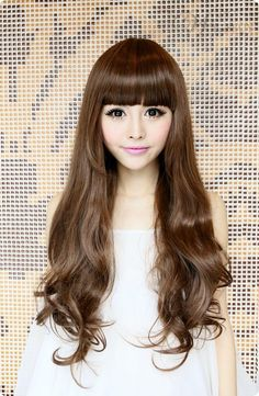 Hot Sale Top Quality Sweet Long Wavy Brown Wig about 24 Inches Makes You More Lovely