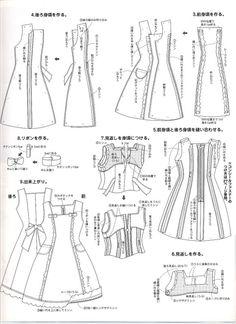 molde vestido longo de barbie - Pesquisa Google