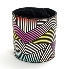 Leather cuff / wallet wristband  Bold Geometric by tovicorrie, $34.00