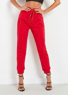 Level Up Track Pant - Red
