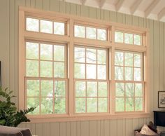 A sunroom or den gets great light with our double hung for Marvin transom windows