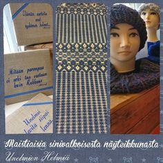#unelmienhelmiä #näyteikkuna #ajatustuotteet #matto #ruusukas #neulottu #sinivalkoinensuomi #suomi100