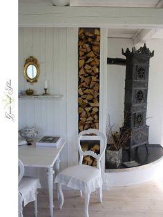 . Wood burning stove.