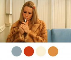 There's no more fashionable entrance than Margot Tenenbaum's signature full-length mink by way of the Green Line bus. (As always, she was late.) Cornflower blue pairs effortlessly with...