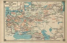 military atlas of the USSR rail and water, 1943 #map #ussr #ww2 #soviet #russia