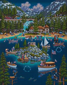 Lake Tahoe by Eric Dowdle now available as a Dowdle Puzzle at DowdlePuzzles.com