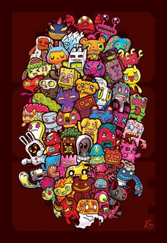 Hidden Doodles' 50 Monsters by lei-melendres.deviantart.com on @deviantART