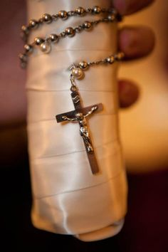 For the Brides Bouquet::Wrap a special rosary around the stem of the bouquet the bride will be holding.