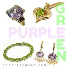 """Spring Gemstones Jewelry Mix and Match"" by premierajg ❤ liked on Polyvore featuring vintage"