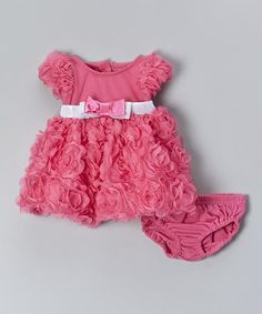 Another great find on #zulily! Pink Floral Dress & Diaper Cover - Infant #zulilyfinds