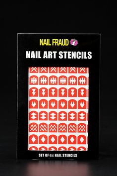 Geometric Nail Stencils. Been looking for these forever.