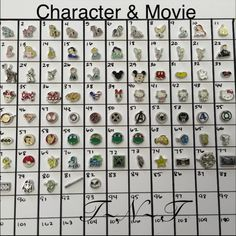 Pick 4!! Character U0026 Movie Locket Charms Pick Any 4 For $7, W