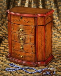 Vintage-style jewelry box. Make it a special gift with a #gemstone #jewelry piece from the Carol Canter Collection.  http://thecarolcantercollection.com
