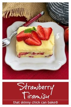 Berry Tiramisu with Grand Marnier - A strawberry twist on the Italian classic with mascarpone and Grand Marnier soaked ladyfingers! #berries #strawberries #tiramisu #dessert #ladyfindgers #GrandMarnier #ValentinesDay #thatskinnychickcanbake