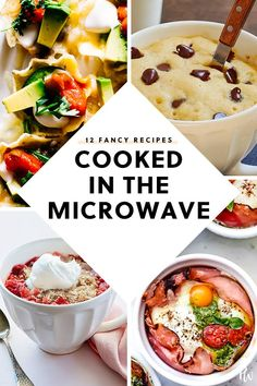 12 Fancy Recipes That Were Secretly Cooked in the Microwave is part of Microwave recipes dinner - Keep these 12 microwave recipes in your back pocket for those days you're short on time (but still want something delicious) Healthy Microwave Meals, Easy Microwave Recipes, Microwave Dinners, Easy Dinner Recipes, Quick Easy Meals, Fancy Recipes, Microwave Food, Eating Healthy, Clean Eating