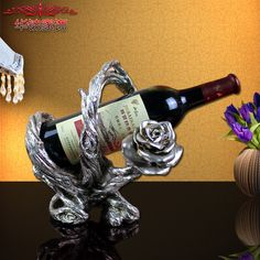 Find More Figurines & Miniatures Information about 2016 Time limited New Home Decoration Accessories Style Luxury Rose Wine Rack Red Bridal Wedding Gift ,High Quality gift box for cakes,China gift original Suppliers, Cheap gift compass from Wooden box / crafts Store on Aliexpress.com