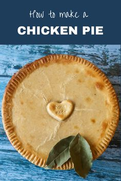 An easy homemade chicken pie. Use up leftover roast chicken or cook it from scratch for this tasty, easy recipe. #ChickenPie #ChickenRecipes #LoveYourLeftOvers #LoveFoodHateWaste #ChickenDishes #ChickenDinner #RoastChicken #Leftovers Chicken And Mushroom Pie, Chicken Pot Pie Filling, Pastry Recipes, Pie Recipes, Chicken Recipes, Entree Recipes, Dinner Recipes, Homemade Chicken Pie, Easy Starters