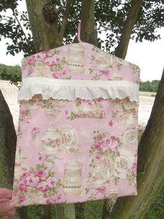 Backyard Romance Clothespin Bag