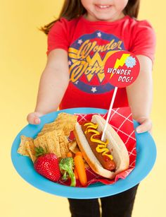 """Superhero theme food...but """"hot dog"""" and use Pyro Dogs (cuz pyro manipulates fire and fire is hot...its a stretch but still)"""