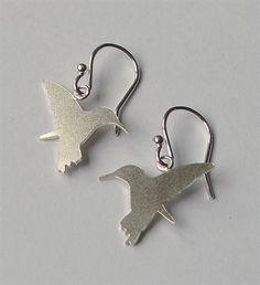 Hummingbird earrings by Leoma Drew Designer Jewellery, Jewelry Design, St Ives, Cornwall, Hummingbird, Earrings, Ear Rings, Stud Earrings, Ear Piercings