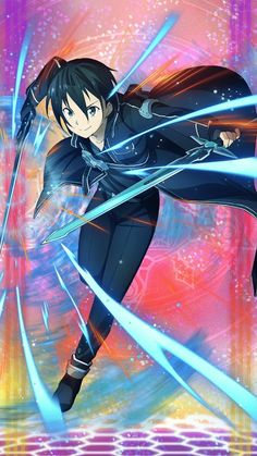 Kirito is my favourite actor and my fan Kirito is my hero in Sword Art Online Alicization Sword Art Online Asuna, Wallpapers Games, Animes Wallpapers, Anime Naruto, Manga Anime, Online Anime, Online Art, Desenhos Love, Sword Art Online Wallpaper