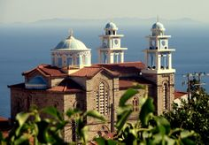 Marathokampos Greek Orthodox church in Samos Island