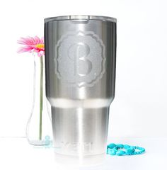Yeti Decal / Monogram Decal / Yeti Tumbler Decal by TurqPineapple