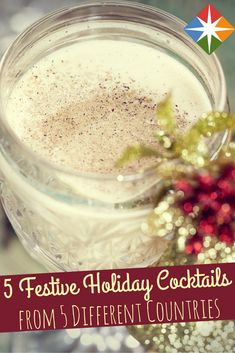 5 Christmas Drinks From Around the World That You'll Love. Looking for a different Christmas drink to make this holiday? Try one of these from around the world.  | via @SparkPeople