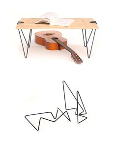 Tick is a leg system which clamps to materials to make a table—no screws or tools necessary
