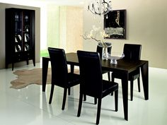 [ Black Dining Room Table Sets Tables Round Modern Color Wooden And Chairs Buy ] - Best Free Home Design Idea & Inspiration Cheap Dining Room Chairs, Dining Room Furniture Sets, Modern Black Dining Room, Modern Dining Table Black, Modern Dining Room Set, Black Dining Room Sets, Dining Table Chairs, Black Dining Room Table, Modern Dining Room