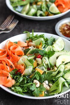Kokit ja Potit -ruokablogi: Vietnamilainen kesärullasalaatti