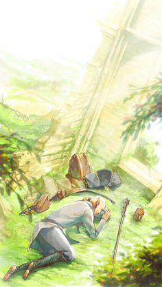 Solas - aww, maybe this is when he went to sleep to go where his friend used to be http://knight-enchanter.tumblr.com