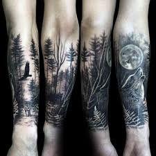 Resultado de imagen para forest tattoo sleeve