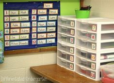 Kindergarten morning work doesn't have to be paper pencil worksheets or free play.  Check out this system for morning work.