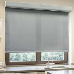 "Chicology Roller Shades Color: Pebble, Size: 54"" W x 72"" L"