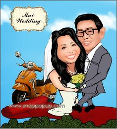 snappopup: karikatur: Happy Wedding mui