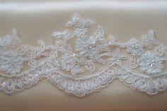Ivory Lace Trim White Lace Trim Bridal Lace Wedding by JLWeddings, $7.95