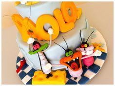 Oggy cake-  OGGY E I MALEDETTI SCARAFAGGI - Cake by donatellacakes72