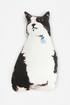 i'm not a big fan of cats, but I like cat decor for some reason  Diego the Cat Pillow  #UrbanOutfitters