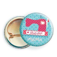 3x Button ★ HANDMADE verliebt ★  von millimi von millimi auf DaWanda.com