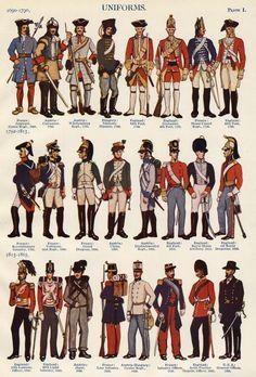 Military Uniforms of World 1910 Four Chromolithographs | eBay