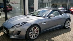 New Jaguar F-Type V8 S convertible in silver blue