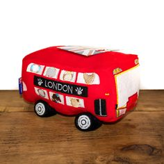 The perfect patriotic gift for your pooch. This unique London bus plush dog toy has a squeaker hidden inside for lots of fun!