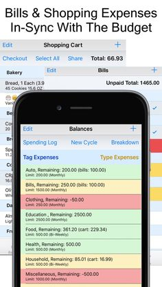 expense scout grocery list with prices bills expense manager