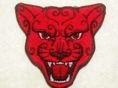 Jaguar rojo hierro en parche por GerriTullis en Etsy