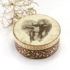 Love Angels Box for jewelry  Vintage look wooden by Alenahandmade, $25.00