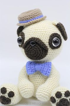 Pugster Pug Amigurumi pattern - https://www.etsy.com/au/listing/526898910/crochet-amigurumi-pug-dog-pattern-only?ref=shop_home_active_1