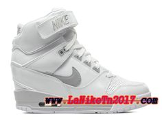 los angeles adfb1 aac29 Femme Nike Air Revolution Sky Hi GS Blanc Chaussures Basket Pas Cher  599410-102-