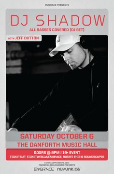 CONTEST: Win tickets to see DJ Shadow Live at The Danforth Music Hall on Oct. 6 in Toronto!