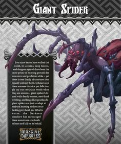 The Giant Spider is able to attack it targets from a distance, possibly ensnaring them in a powerful web. If is attack rolls any Diamonds, all heroes in the targeted zone are stunned.